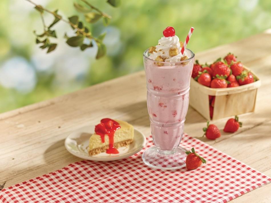 Steak 'n Shake's new Strawberry Cheesecake Milkshake
