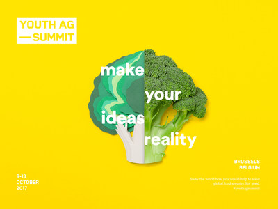 The third Youth Ag-Summit will take place in Brussels, Belgium, from October 9-13, 2017.