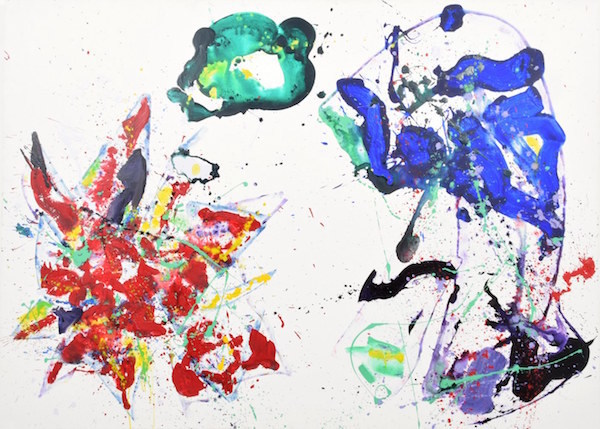 Sam Francis (American, 1923-1994), Quiet Fruitfulness, 1987, acrylic on canvas, listed in 2011 catalogue raisonne, registered by Sam Francis Foundation. Estimate $500,000-$600,000