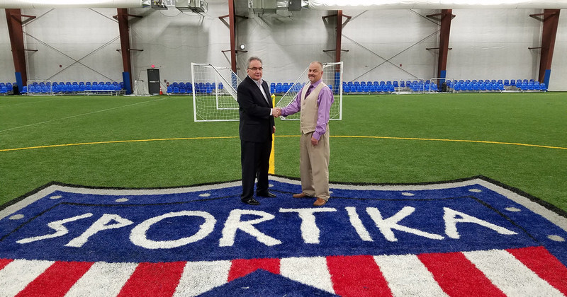 Peter Grandich and Sportika CEO Jeffrey Jordan.