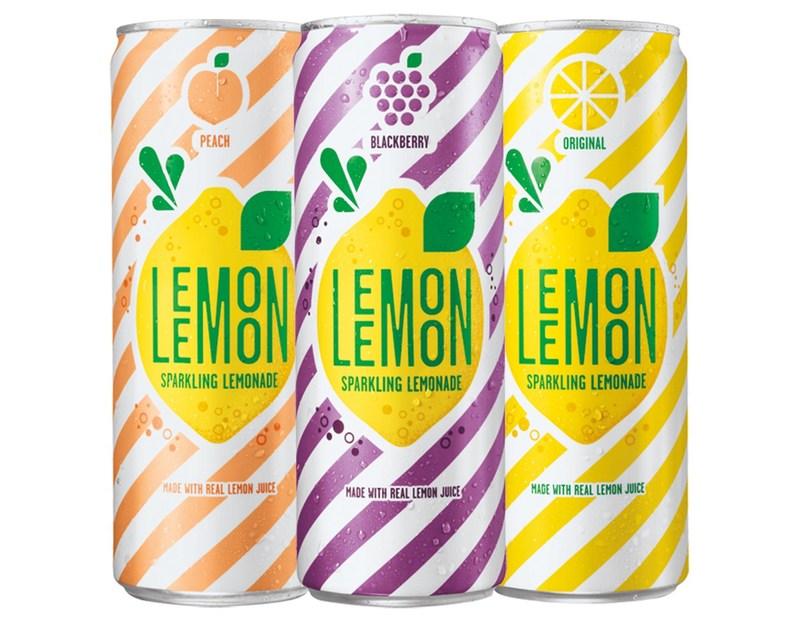 PepsiCo launches new sparkling lemonade, LEMON LEMON, in three flavors.