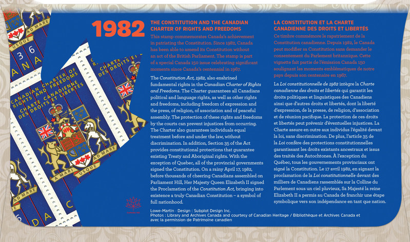 Back of Official First Day Cover (CNW Group/Canada Post)