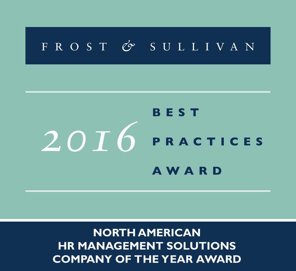 Frost & Sullivan recognizes ADP® with the 2016 North American Company of the Year Award