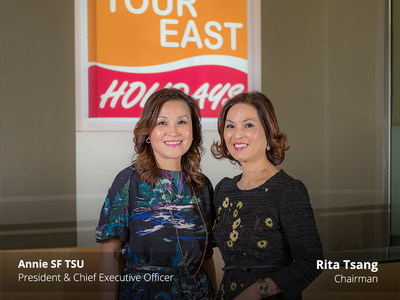 Annie SF Tsu, President and Chief Executive Office (left) and Rita Tsang, Chairman (right) (CNW Group/Tour East Holidays (Canada) Inc)