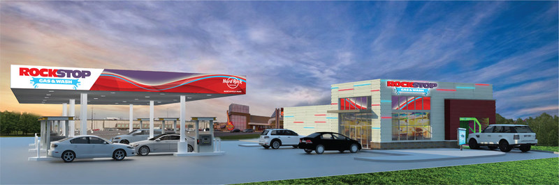 Hard Rock Rocksino Northfield Park to open ROCKSTOP GAS & CAR WASH, a new Hard Rock branded, first of its kind, state of the art gas service station and car wash in Northfield Village, Ohio.