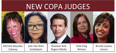 New COPA Judges for 2017 (CNW Group/Canadian Online Publishing Awards (COPA))