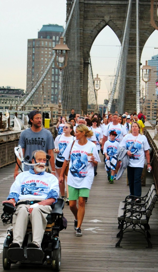 Chris Pendergast journeys by wheelchair with thousands of supporters from Yankee Stadium to Washington, DC. (2016 photo courtesy of Ride for Life)