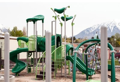 Playgrounds at the UVU Autism Center, funded by doTERRA, will provide recreation and therapy for children on the autism spectrum.
