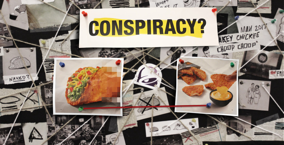 The return of Taco Bell's Naked Chicken also means the return of The Council For Eating Fried Chicken The Same Way You Always Have. The group dedicated to preserving traditional chicken values sees some delicious similarities between the Naked Chicken Chalupa and the new Naked Chicken Chips. Coincidence? They think not.