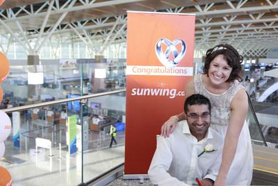 Jeannine Beck and Fareed Rawji (CNW Group/Sunwing Vacations Inc.)