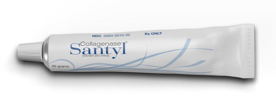 Santyl is usually applied