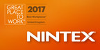 Nintex Recognised as one of the UK's Best Workplaces™