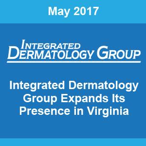 Dr. Jonathan Schreiber named Medical Director of Integrated Dermatology of Newport News, LLC.