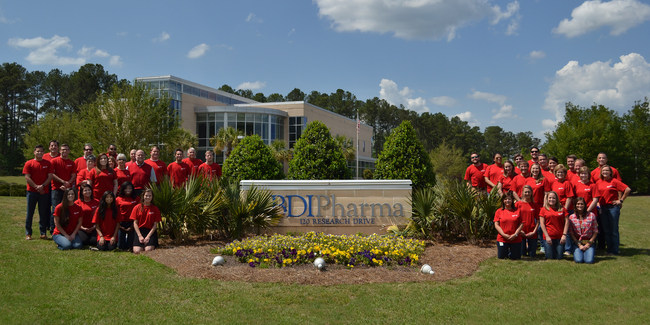 BDI Pharma employees in front of our Columbia, SC headquarters