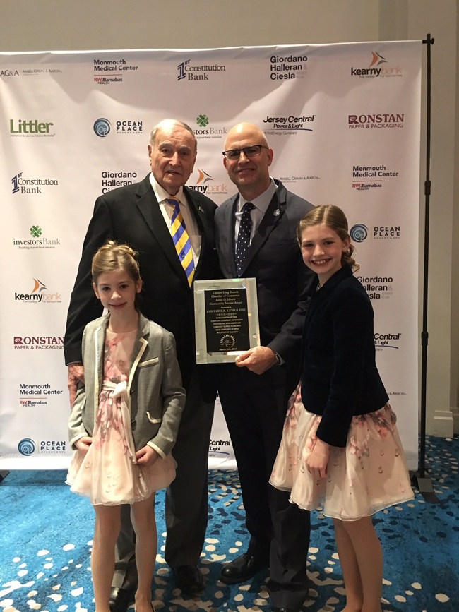 The Kiely Family of Companies Chief Executive Officer John F. Kiely Jr., and President John M. Kiely are the 2017 recipients of the Greater Long Branch Chamber of Commerce Louis G. Libutti Community Service Award.