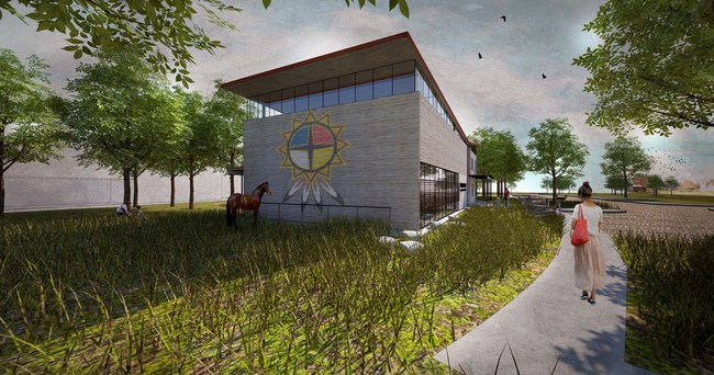 Thunder Valley Community Center and Guest House; Rendering Credit BNIM