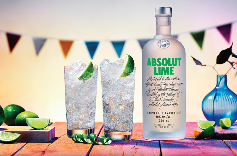 Absolut Lime is fresh and fruity with a distinct note of freshly pressed lime. (CNW Group/Corby Spirit and Wine Communications)