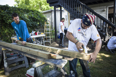 Sears volunteers help renovate the home of a Baltimore, Md. Army veteran as part of a Heroes at Home rebuild last summer. Sears has launched its 2017 Heroes at Home fundraising campaign with Rebuilding Together, a leading national nonprofit in safe and healthy housing, to assist veterans and military families in need. Marking its 10th year, Sears' Heroes at Home program has completed nearly 1,700 rebuilds, raised $21 million and served 14,250 veterans.