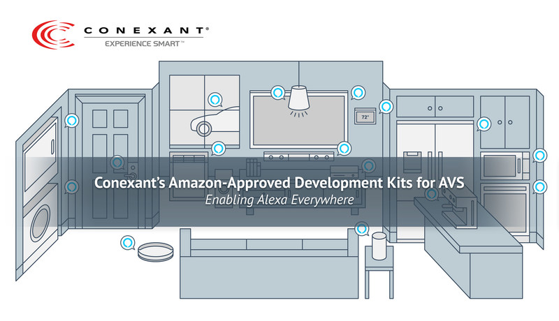 Conexant's Amazon-Approved Development Kits for AVS Devices - Enabling Alexa Everywhere