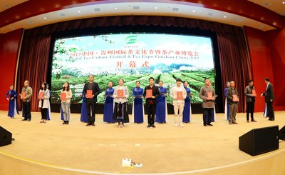 The Opening Ceremony of Global Tea Culture Festival and Tea Expo Guizhou China 2017
