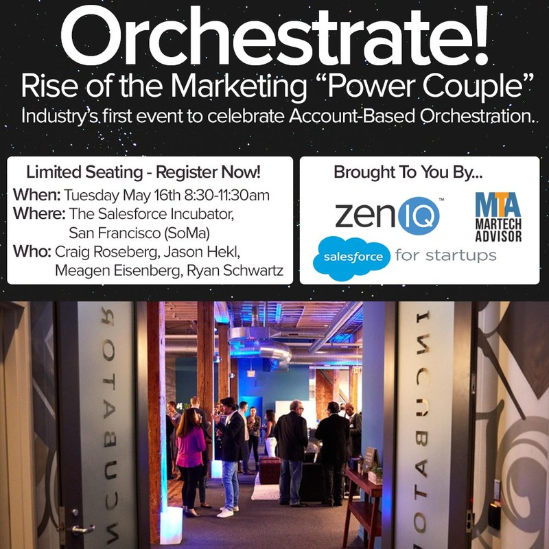 """Orchestrate! brings to life the best of Account Based Orchestration so you can learn from thought leaders, innovators, and your peers. """"The Rise of the Marketing Power Couple"""" is the first event in the Orchestrate series and focuses on the relationship dynamics and synergy between strategy, demand gen, and marketing ops. Learn more at: https://www.zeniq.io/orchestrate-rise-marketing-power-couple-blog/"""
