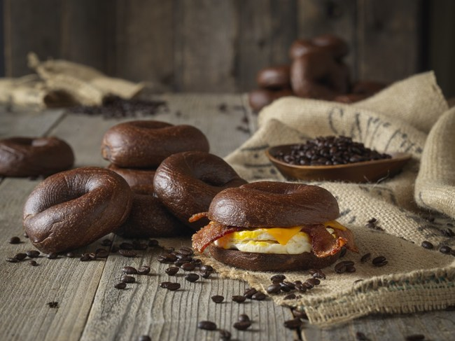 Einstein Bros. Bagels new espresso-infused Espresso Buzz Bagel is boosted with 32mg of caffeine and 13g of protein.