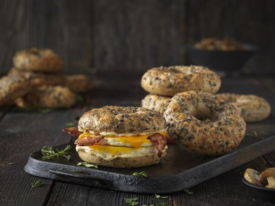 Einstein Bros. Bagels new mouth-watering Savory Parm Bagel is boosted with iron B1 B2 and 12g of protein