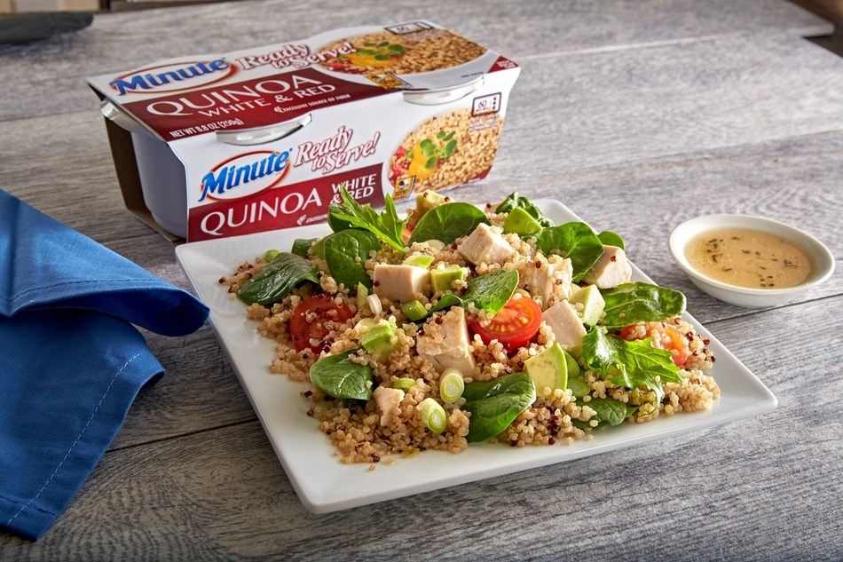 The Avocado Chicken Power Salad made with the new Minute Ready to Serve White & Red Quinoa, the first 100 percent quinoa Minute product, is the perfect meal for the time-starved. It's quick, nutritious and tasty.