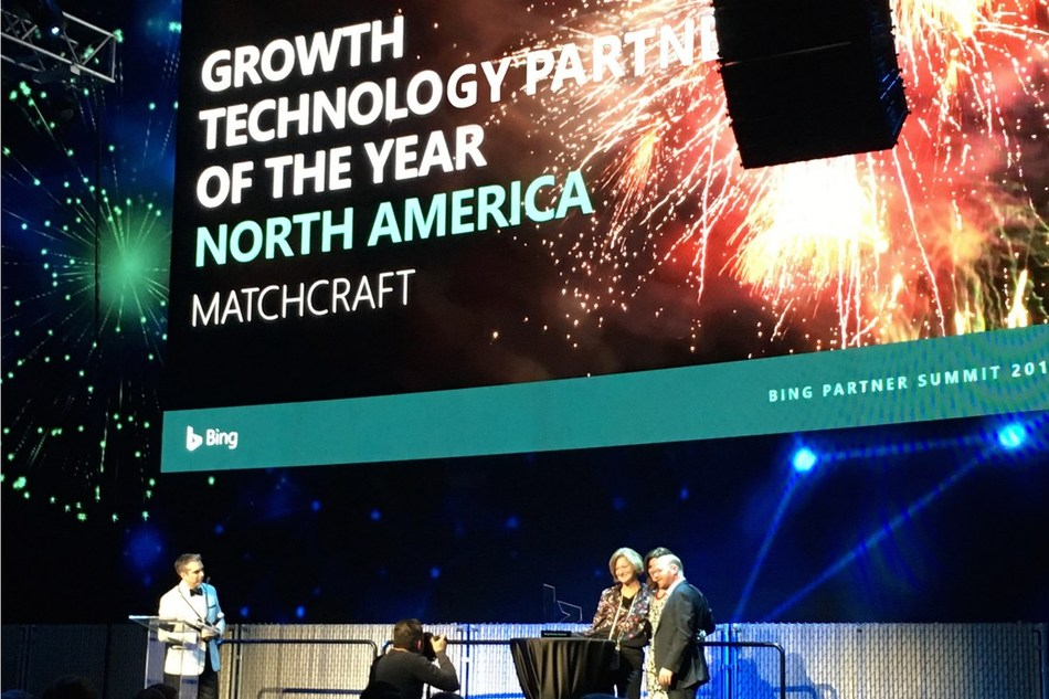 MatchCraft wins Bing Growth Technology Partner of the Year North America 2017. www.matchcraft.com