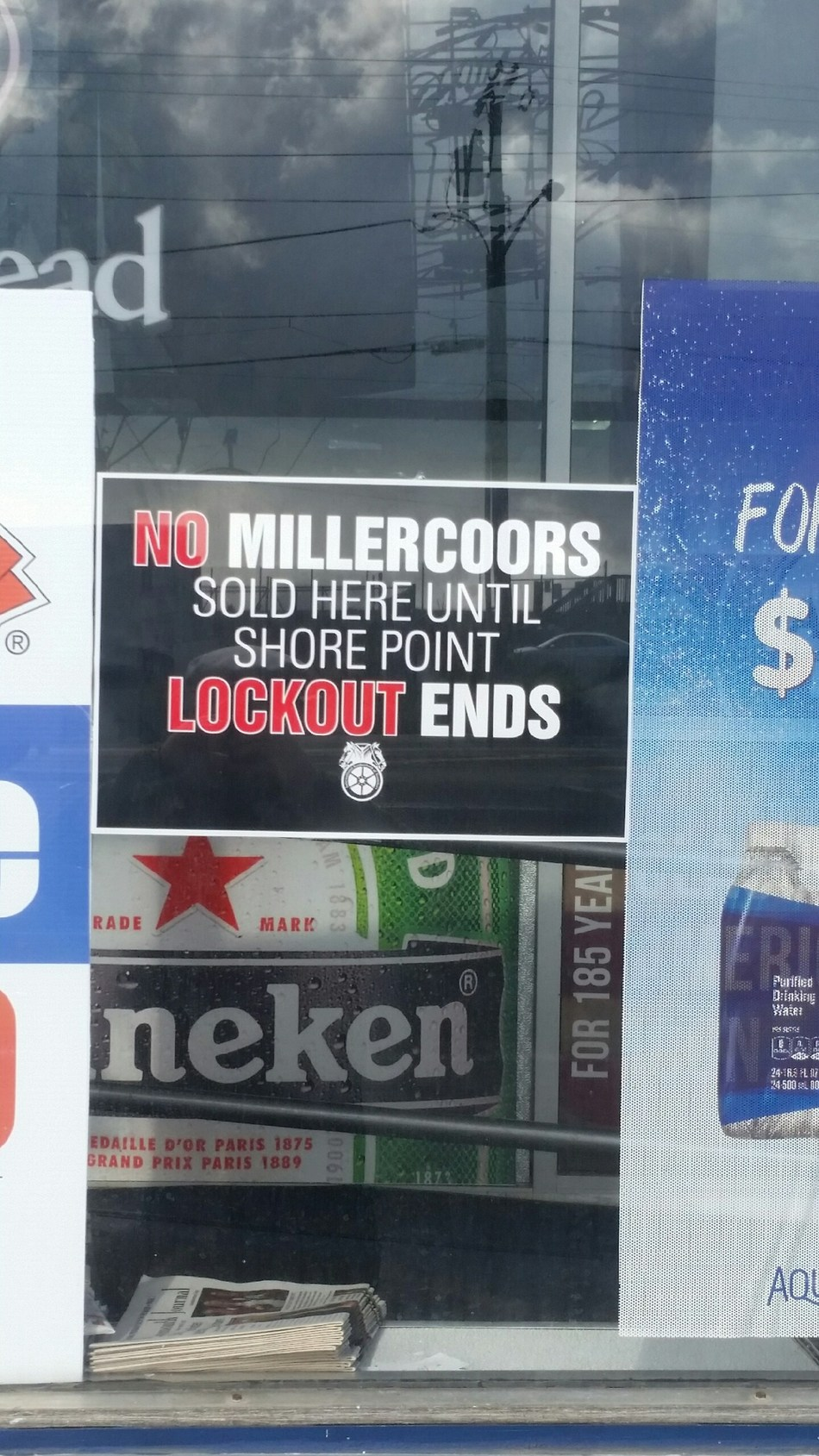 One of the many New Jersey retail establishments supporting Teamsters who were locked out by Shore Point Distribution.