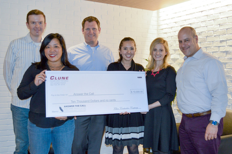 Clune donates to Answer the Call, the New York Police & Fire Widow's & Children's Benefit Fund.
