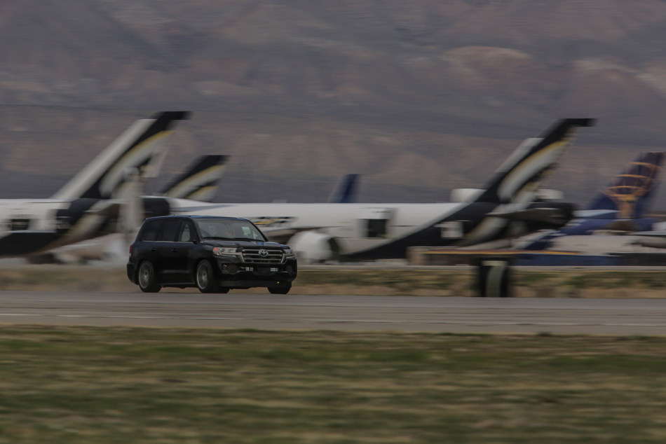 """The Toyota Landcruiser has earned the title of """"World's Fastest SUV"""" thanks to a record speed of over 230 mph, attained by the custom 2,000-horsepower Land Speed Cruiser driven by former NASCAR driver Carl Edwards."""