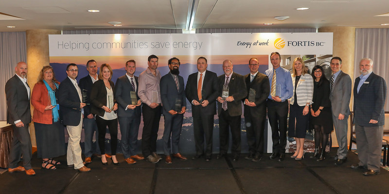 Award recipients and FortisBC representatives at FortisBC's Efficiency in Action Awards (CNW Group/FortisBC)