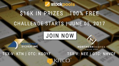 Enter for Your Chance to Win $16,000 In Physical Gold Bullion in the Kitco/Stockpools Stockpicking Challenge (CNW Group/Stockpools Inc.)