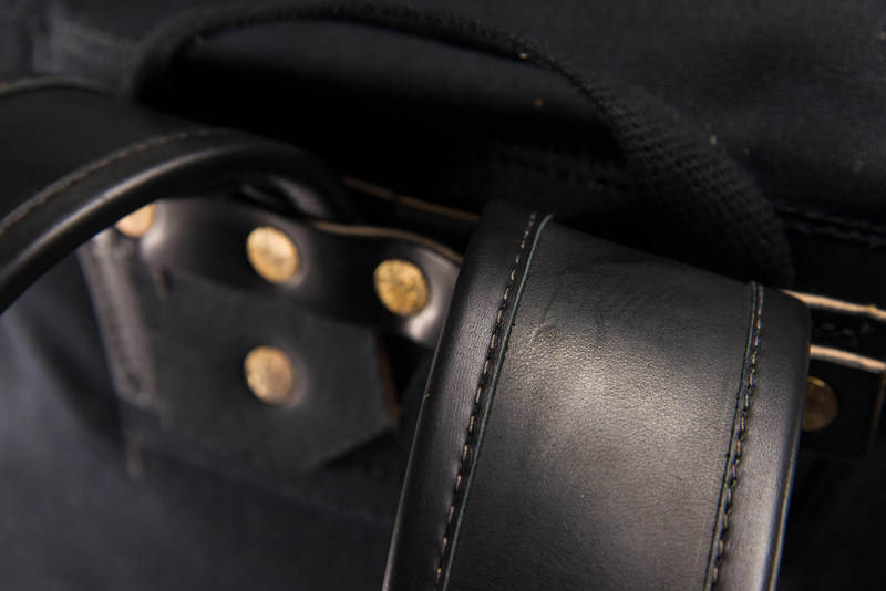 Frost River Heritage Black packs and bags are constructed of the highest-quality leather, solid brass hardware and waxed canvas tin cloth to deliver generations of use