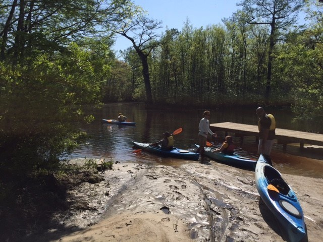 Wounded Warrior Project took veterans and their families kayaking along a North Carolina creek. The trip reduced stress while empowering warriors and connecting them with one another.