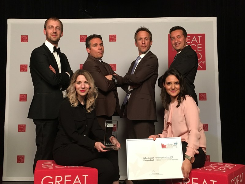 The SC Johnson Rolle, Switzerland team celebrates its Great Place to Work ranking