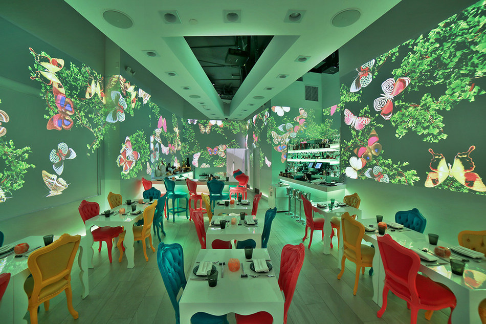 Kaori by Walter Martino restaurant interior photo and 360 degree cinematic show. (PRNewsfoto/Walter Martino)