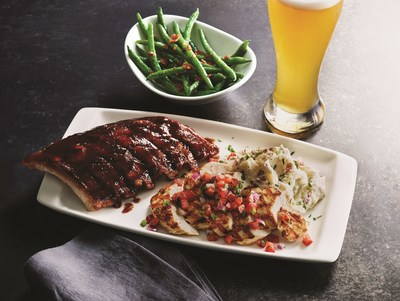 Applebee's today unveils Big and Bold Grill Combos, a limited-time line-up of two entrée favorites with a choice of two sides to create a delicious personalized pairing. Starting at only $12.99, the Big and Bold Grill Combos menu features a wide variety of Applebee's grill favorites – including Baby Back Ribs, Grilled Chicken Breast, USDA Choice Top Sirloin, Grilled Salmon and Grilled Shrimp Skewers with Lemon Butter Sauce.