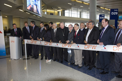 DFW to FCO Inaugural Flight Ribbon Cutting