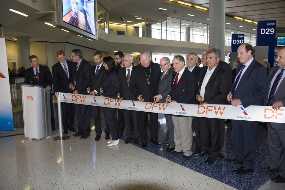 DFW to FCO Inaugural Flight Ribbon Cutting