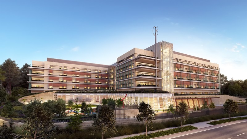 Rendering of the expanded Lucile Packard Children's Hospital Stanford, slated to open in December 2017.