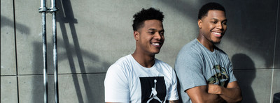 Marcus Stroman and Kyle Lowry team up to launch AXE Stealth Praise campaign. (CNW Group/Unilever Canada)
