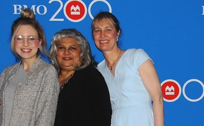 Tara Bosch, Annar Mangalji and Cathy Press were the local honourees recognized through ‎BMO Celebrating Women in Vancouver. (CNW Group/BMO Financial Group)