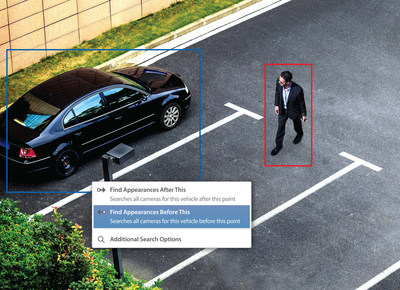 Figure 1. Avigilon Appearance Search is a sophisticated deep learning AI search engine that enables users to quickly locate a specific person or vehicle of interest across an entire site. (CNW Group/Avigilon Corporation)