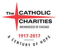 Catholic Charities of the Archdiocese of Chicago 100th Anniversary Logo.