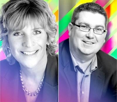 Illuminate 2017 Co-MCs Jan Enns and Matt Wood (CNW Group/Canadian Public Relations Society)