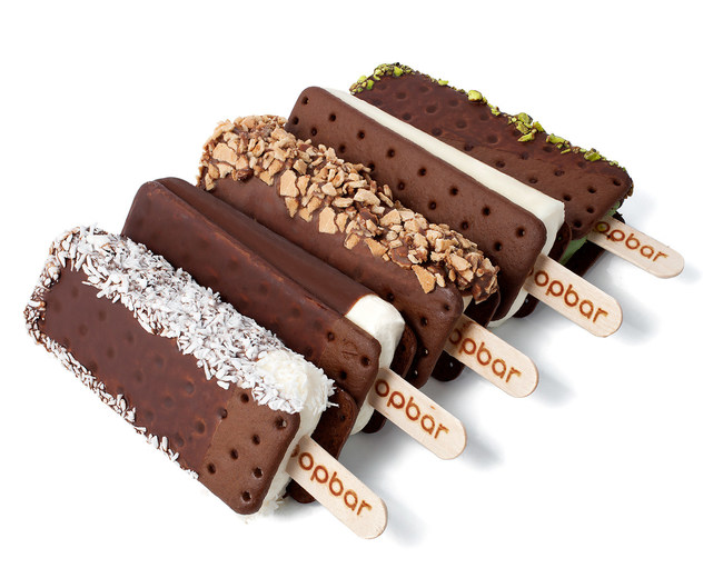 Customize your very own gelato sandwich - on a stick