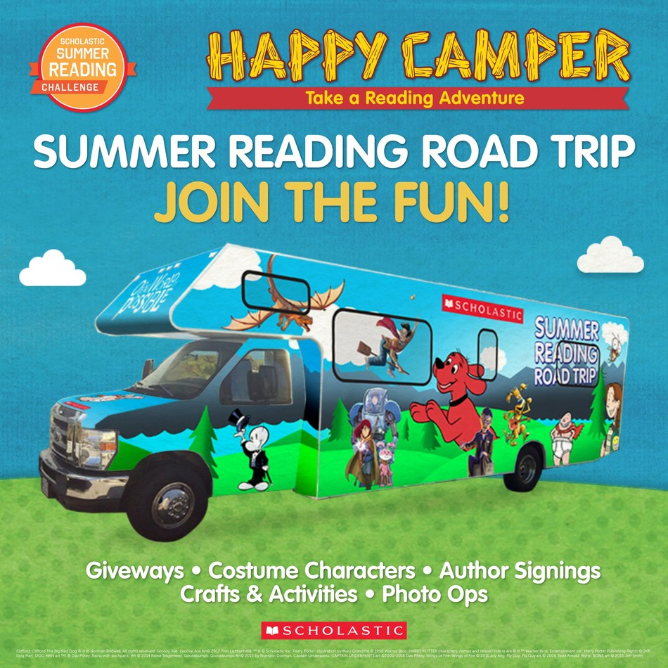 "Scholastic is adding even more summer reading fun and enthusiasm to the Scholastic Summer Reading Challenge with the Scholastic Summer Reading Road Trip. Hitting the road for its second year, the Road Trip hosts free ""pop-up"" reading festivals that engage communities and help kids discover the power and joy of reading. The 25+ city tour begins today and will run through July 26, 2017. The full list of free public events is available at http://summerroadtrip.scholastic.com/"