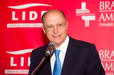 Governor of Sao Paulo, Geraldo Alckmin (Photo released by Brazilian-American Chamber of Commerce)